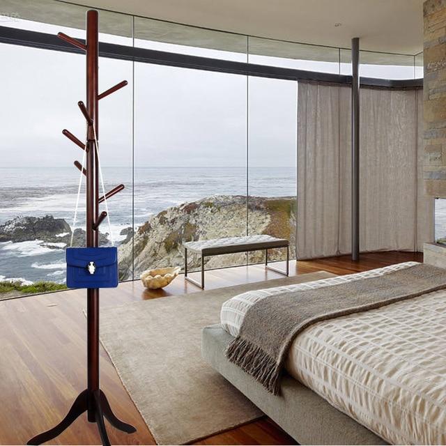 Bedroom Solid Wood Living Room Coat Rack Display Stands Scarves Hats Bags Clothes Shelf