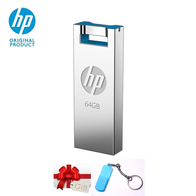 HP USB Flash Drive 16GB 32GB 64GB V295w Metal Cle USB Pen Drives Memory Stick U Disk On Key Dropshipping Original Pendrive 32 GB