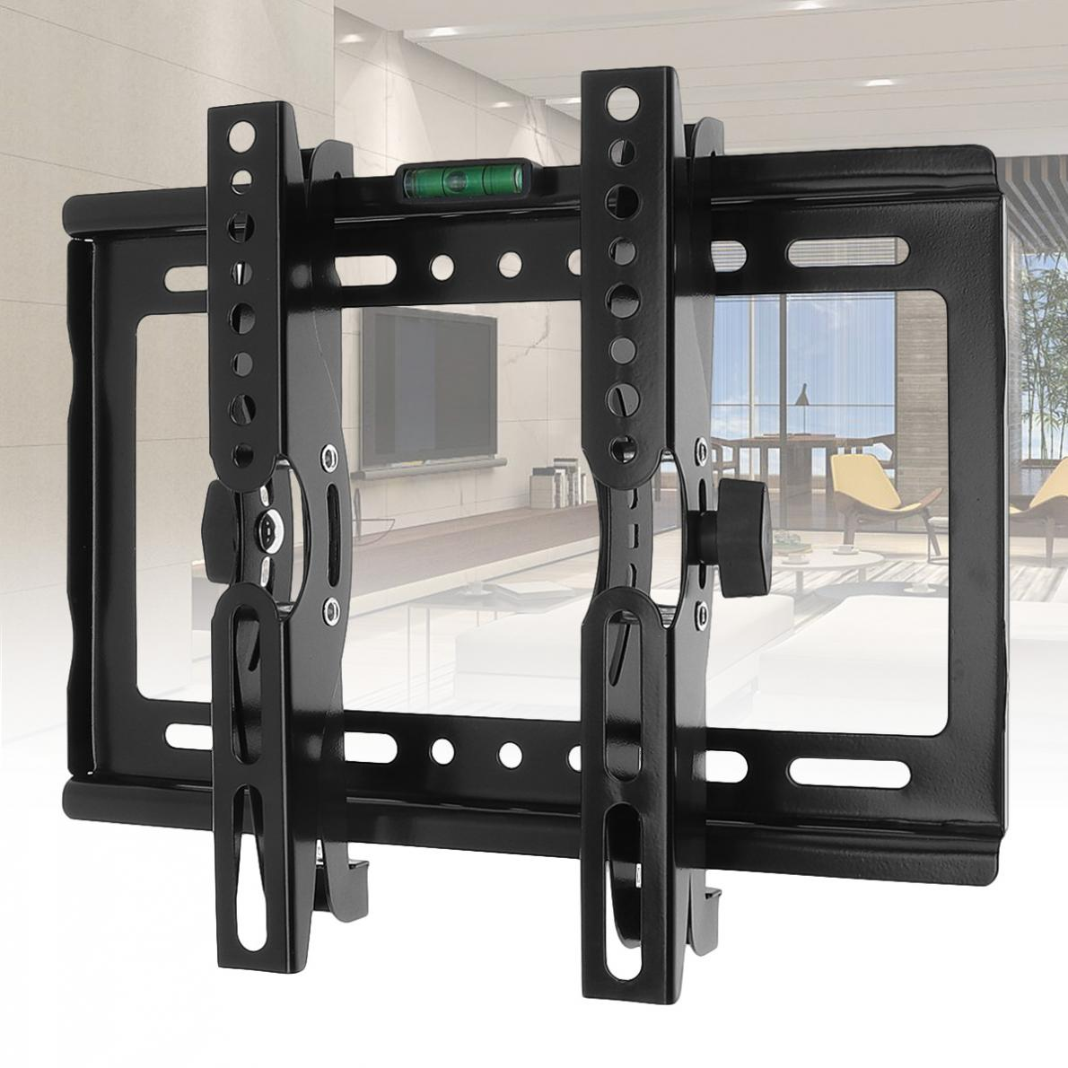 25KG Adjustable TV Wall Mounts Bracket Flat Panel TV Rack Frame Support 15 Degree Tilt Angle