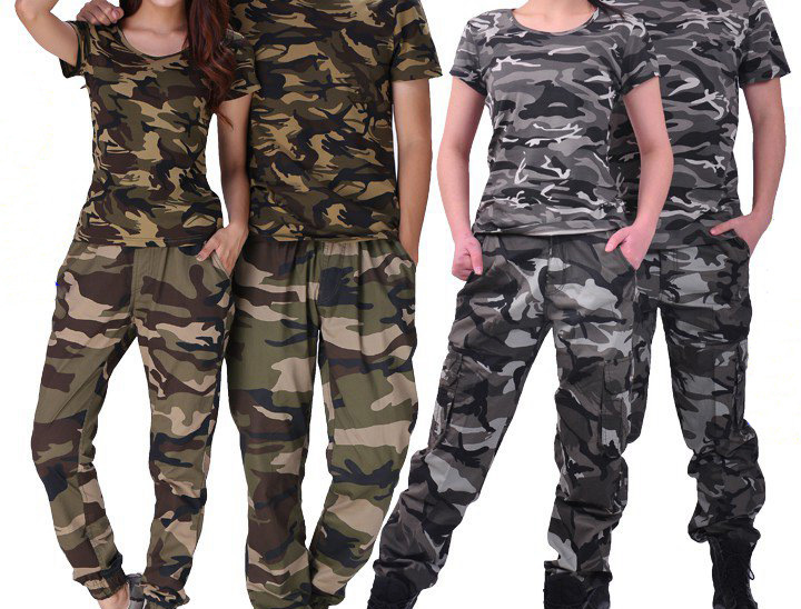 Camouflage uniform suit men's summer overalls camouflage short sleeved T shirt military uniform thin type female training 2016 summer boys short sleeved t shirt two piece children s sports suit camouflage uniforms boys