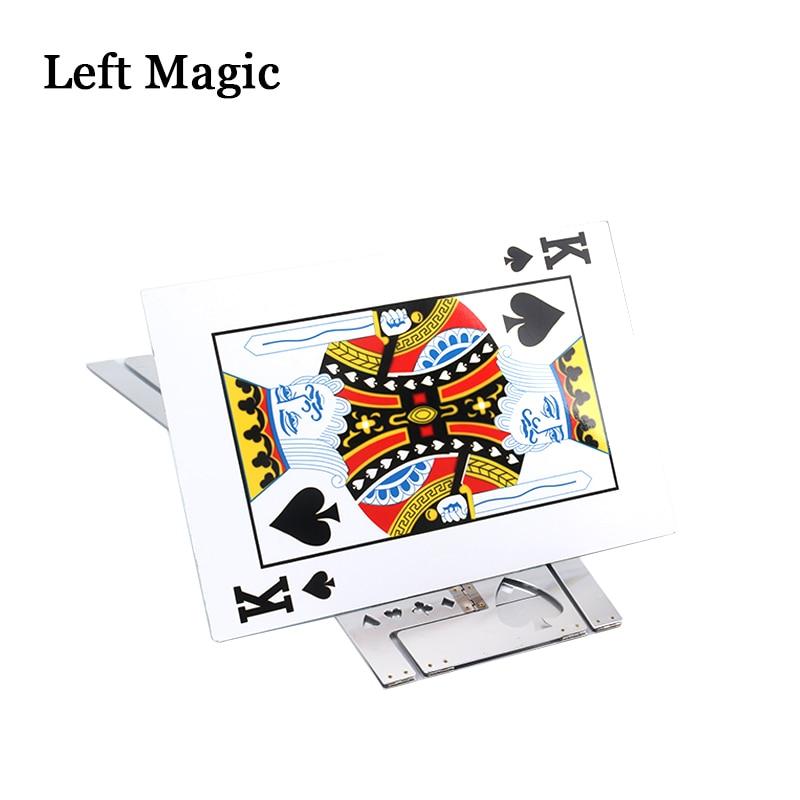 Table pliante magique en aluminium (alliage)-couleur argent tours de magie magicien meilleure scène de Table gros plan Illusions accessoires de magie - 2
