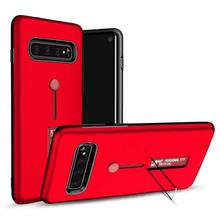 matte armor phone holder hard plastic case for Samsung Galaxy S10 / lite plus finger ring stand back cover fundas