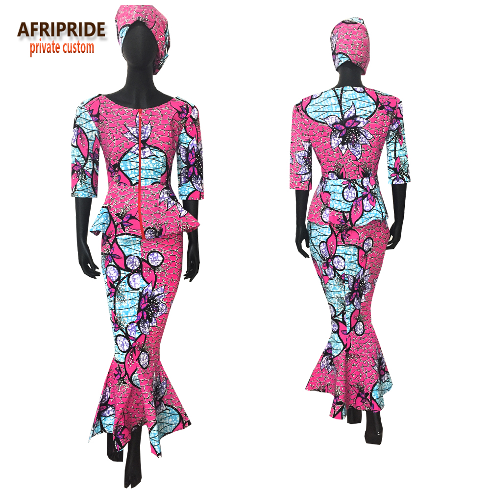 Afrikansk traditionell 2 styck kjol set för kvinnor AFRIPRIDE - Nationella kläder - Foto 2
