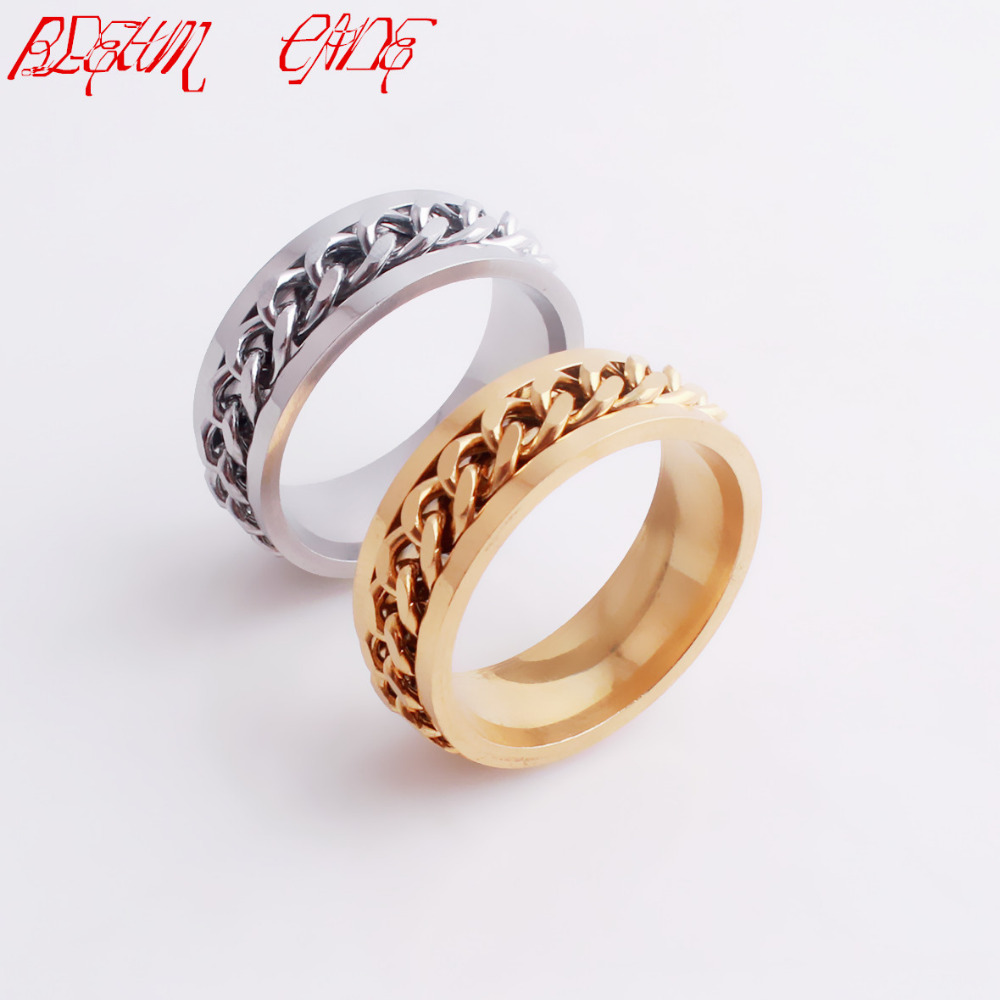 bleum cade fashion cool high polished stainless steel cuban chain rings for wedding engagement rear ring - Wedding Ring Price