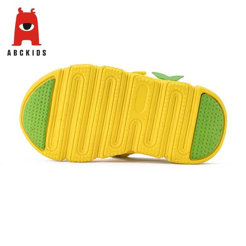 ABC เด็กสาวนุ่ม Soled ฤดูร้อนสัตว์พิมพ์รองเท้าแตะ Breathable Anti - slip รองเท้า