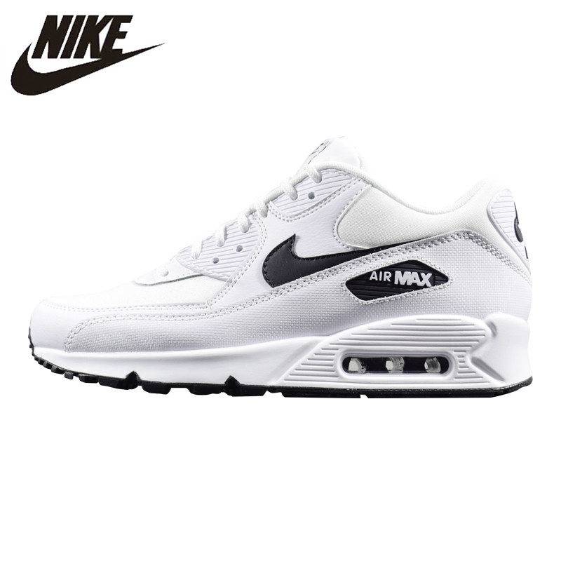749af9a7 NIKE AIR MAX 90 ESSENTIAL Women's Running Shoes, White, Lightweight  Non-Slip Abrasion