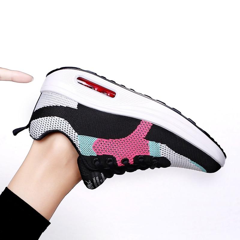 New Women Running Shoes Women tide shos net female swing shoes women's sports shoes low to help thick bottom swing shoes women