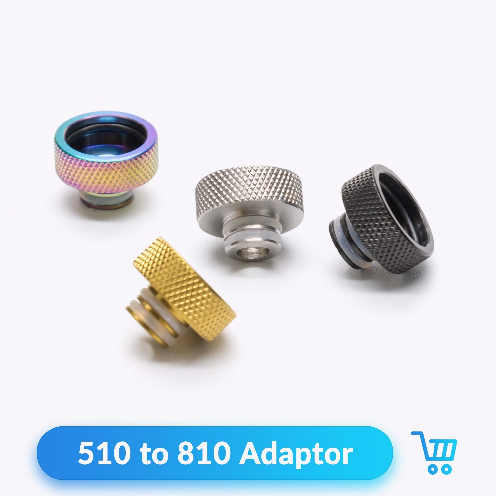 Quartz Banger 510 To 810 Adapter Drip Tip Stainless Steel For V8 RTA RDA RBA Tank Vape 510 Connector E Cigarettes Accessories