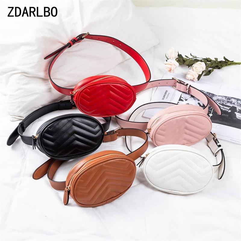 Women's Waist Bag Designer Luxury Fanny Pack Female Belt Bags Solid Color Waist Pack Chest Hip Bag High Quality Pocket Bum Purse