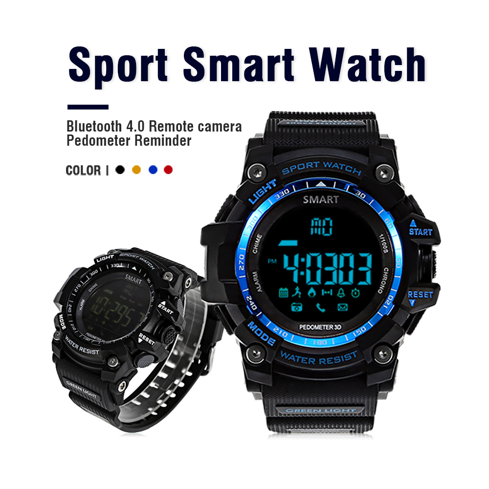imágenes para AIWATCH XWATCH Deporte Podómetro Reloj Inteligente A Prueba de agua Cronómetro Smartwatch Llamada Mensaje Recordatorio Reloj smartwatch Androide
