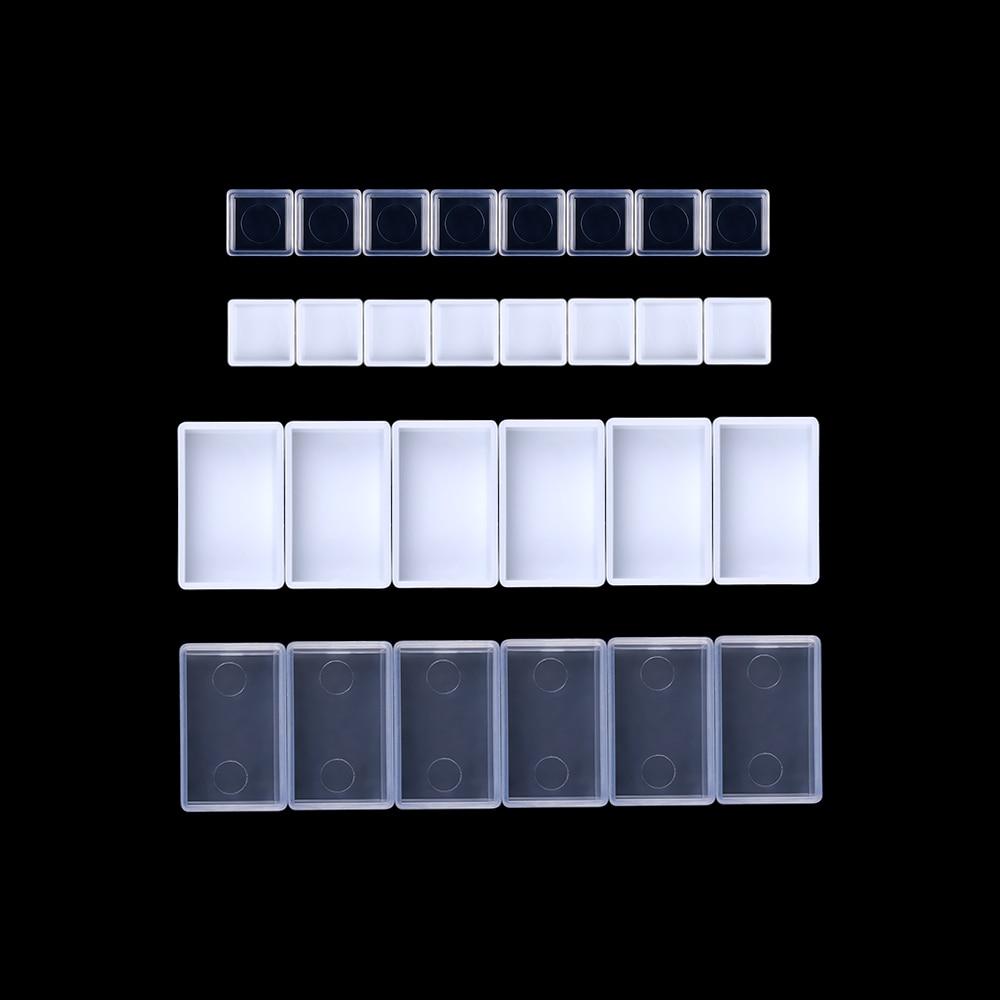 0,5/3,2 ML 20/50 Uds. Los artistas vacios acuarelas sartenes los pintores caja de pigmento caja de pintura arte suministros de paleta de tintas 10 colores forma cuadrada mosaico de vidrio azulejo brillo monocromo para arte suministros para manualidades regalo decoración del hogar paquete en caja