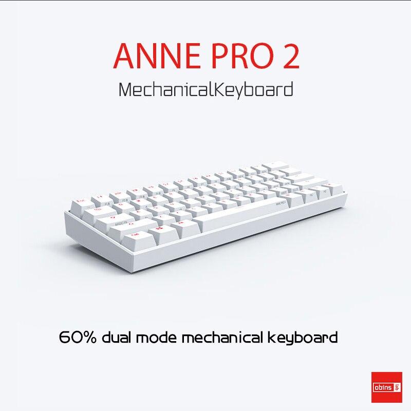 Obinslab Anne Pro2 mini portable 60 NKRO mechanical keyboard RGB backlight wireless bluetooth gaming keyboard detachable
