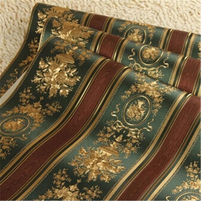 Купить с кэшбэком wellyu  European Luxury Gold Foil Wallpaper 3D Floral Striped Wallpaper Roll Living Room TV Wall Paper  Papel De Parede Roll