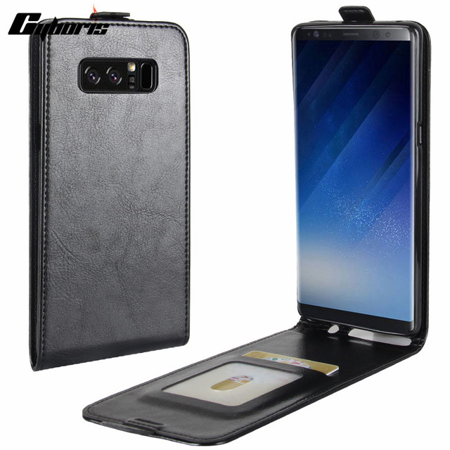 huge discount a0353 cedf1 US $4.99 |Cyboris For Samsung Galaxy note 8 PU Leather Vertical Case For  Samsung Galaxy note 8 Wallet CASE Card Holder Up Down Phone Cover-in Flip  ...