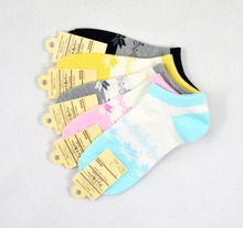 Warm comfortable cotton bamboo fiber girl women's socks ankle low female invisible  color girl boy hosiery  2pair=4pcs WS51