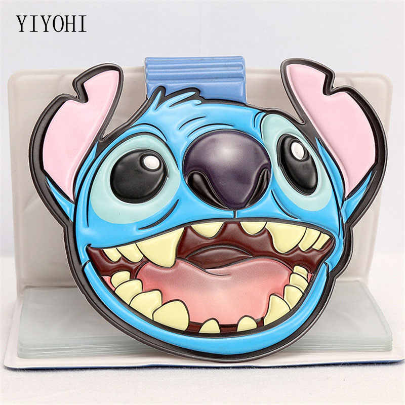 Fashion ID Credit Card Holder Function PU Leather Cartoon Pattern Business Card Women Credit Passport Card Bag 11*8.5cm