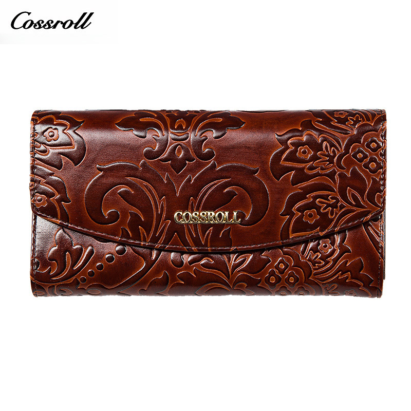 Flower Fashion Coin Purse Hot Sale Wallet Quality Leather Women Wallets Card Holder Purse Lady Party Clutch Long Wallet Female