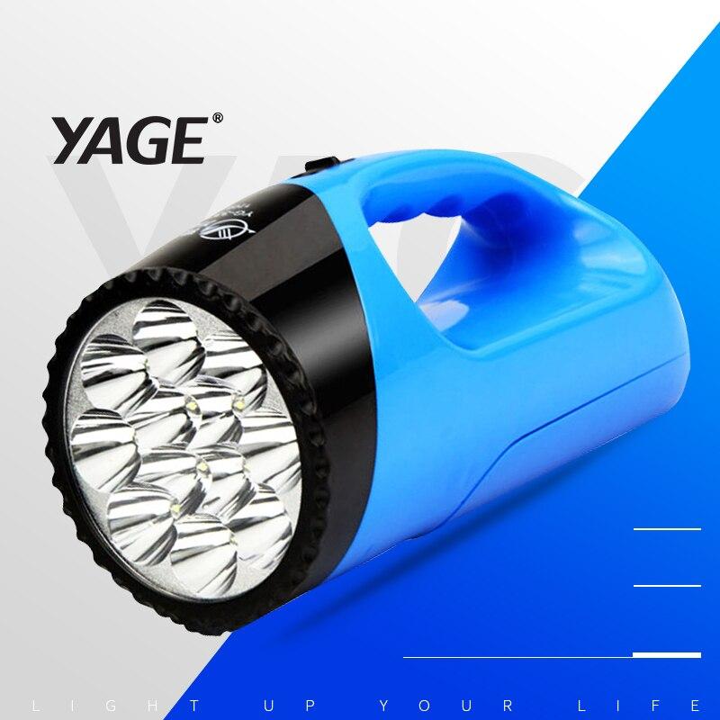 Yage luz portátil levou holofotes caça lanterna toque lintena holofotes portátil handheld holofotes lâmpada de mesa luz 2-modos