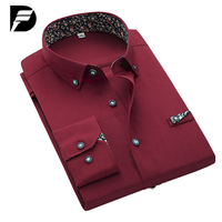 New Brand Mens Black Dress Shirt Male Fashion Solid Mens Casual Shirts Luxury Men Dress Shirts