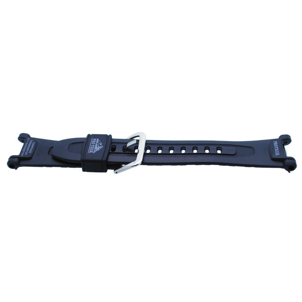 Prix pour Original noir Silicone Rubber band bracelet étanche brassard résine pour prg-40, Prg-240 / PAG-40 bracelet noir