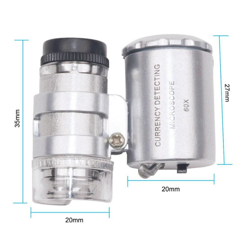 HTB1jgyPrY5YBuNjSspoq6zeNFXaN 60X Mini Microscope Jeweler Loupe Lens Illuminated Magnifier Glass 3 LED With UV Light