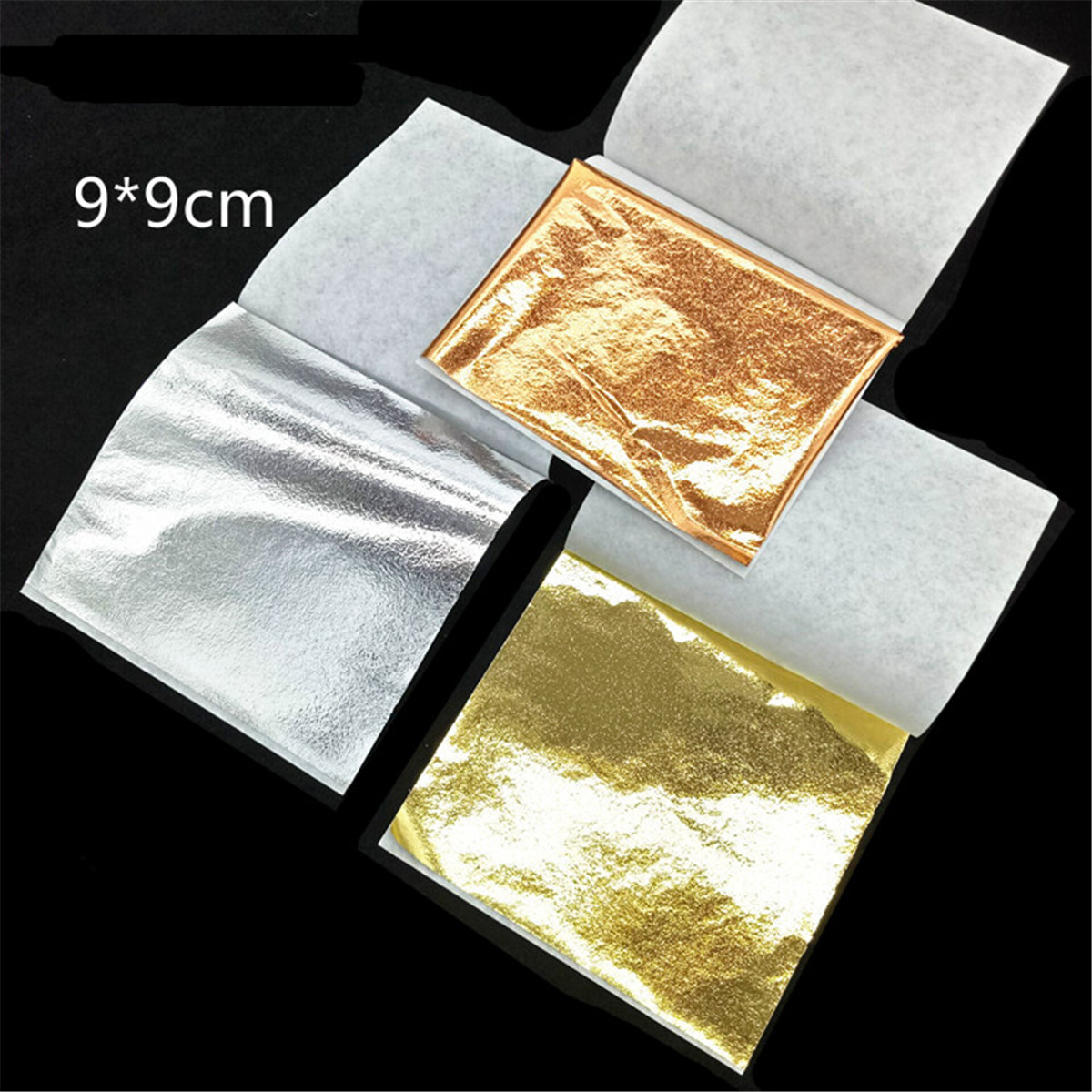 Rose Gold Nail Foin Paper Nail Art Flake and Mirror Effect Accessories for Foil Transfer Nail Paillette Decorations Gold Silver 3pcs set fashion gold silver nail art rolling striping tape gold silver nail art line tape multi size 1mm 2mm 3mm