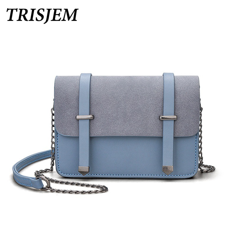 TRISJEM women chain messenger bags mini shoulder bag women small bag for girls female clutch sac a main yellow/pink/blue/black velour beauty women design handbag chain shoulder bag mini small velvet crossbody satchel female messenger bags gift for girls