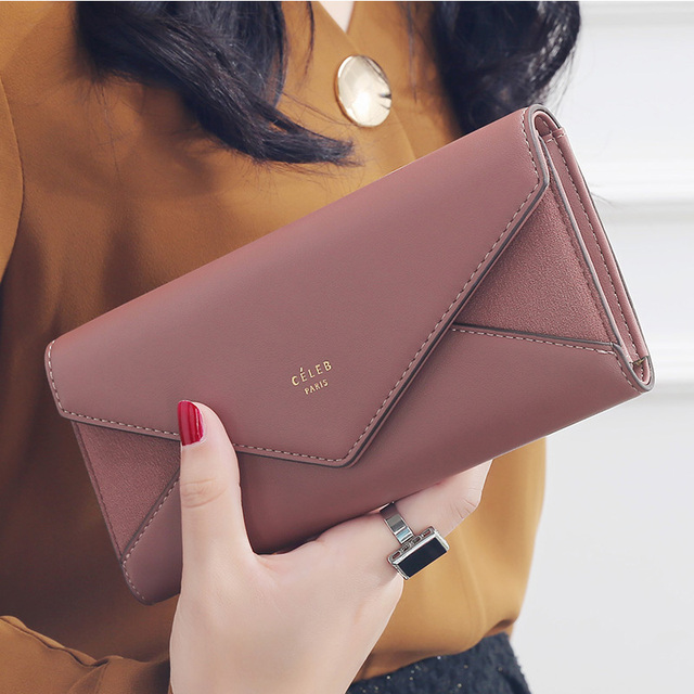 Designer Envelope Hasp Pocket Clutch Wallets