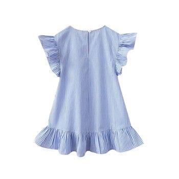 New Kids Baby Girls Dress Tassel Ruffles Sundress Party Casual Short Sleeve Princess Dresses Clothes 1