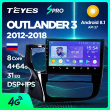 TEYES SPRO android auto dvd gps multimedia speler Voor Mitsubishi Outlander xl 3 auto dvd navigatie radio video audio player(China)