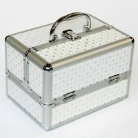 New Arrivel Portable Jewelry Box Make Up Organizer Travel Makeup Storage Box Cosmetic Organizer Container Suitcase