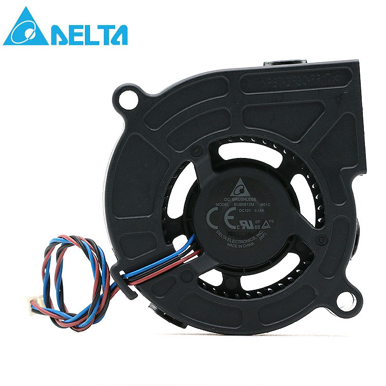 Delta BUB0612M BUB0612M-BE1C 12V 0.16A 6CM 6025 projector turbine cooling fan free shipping original delta cooling fan nfb10512hf 7f03 49 87y01g001 12v 0 39a 3 wires projector 5pcs lot