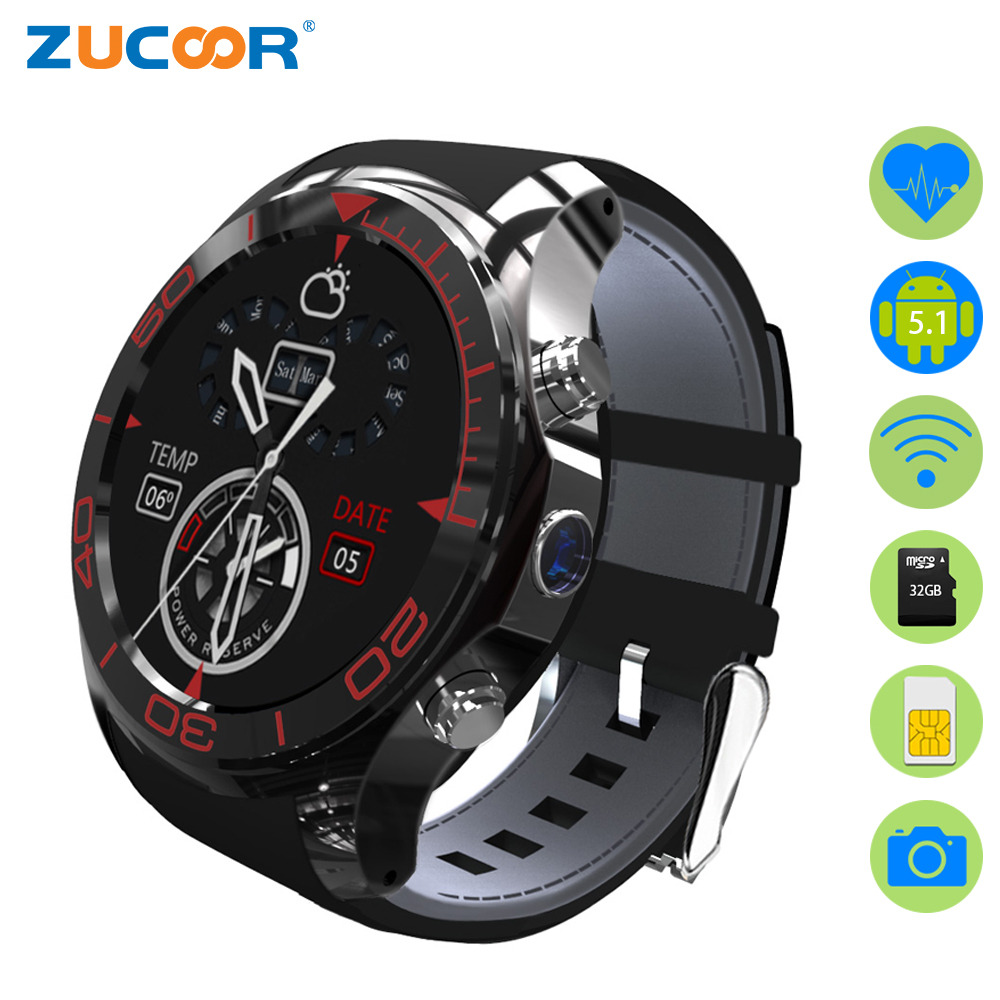 ZUCOOR Android Smart Watch Sports Watches GPS Heart Rate Wristwatch Fitness Tracker Pulse Monitor S1 Relogio Men's Clock Phones smart baby watch q60s детские часы с gps голубые