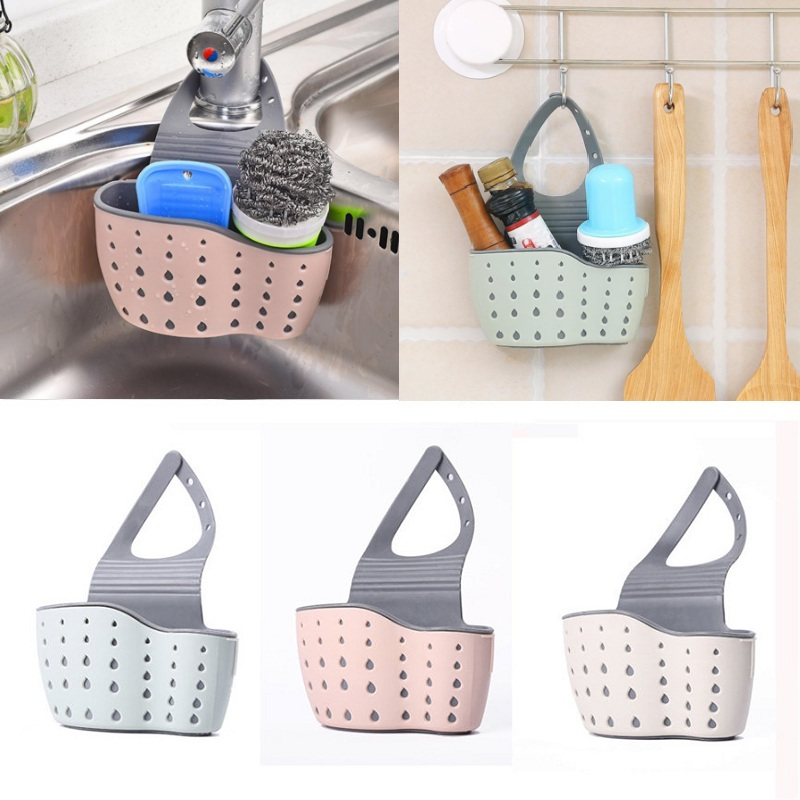 Kitchen Sink Shelf Soap Sponge Drain Rack Bathroom Holder Kitchen Storage Suction Cup Kitchen Organizer Sink Washing Accessories