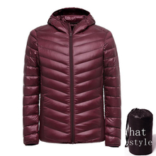 ultralight down jacket winter duck down coat jacket men(China)