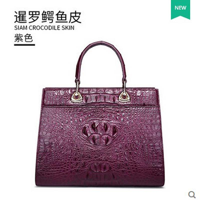 gete 2018 new crocodile leather women handbag Thai crocodile leather crocodile women bag women's shoulder bag woman bag lady bag