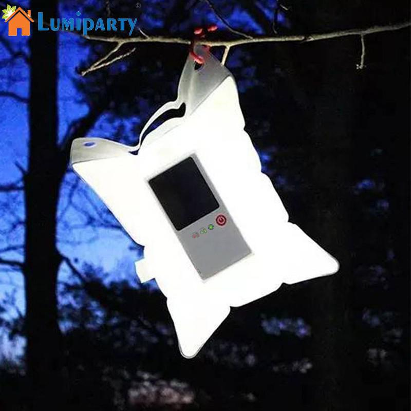 LumiParty Inflatable Solar Light Portable LED Solar Lamp Waterproof Foldable PVC Bag Camping Lights Outdoor Photography Lighting
