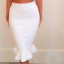 卸売新しいペンシルスカート品種の色ストレッチニットスリム魚尾スカート包帯スカート