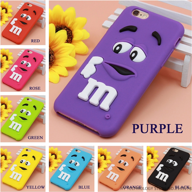 Best Quality Cartoon M M s Chocolate Candy Rubber Case For font b iPhone b font