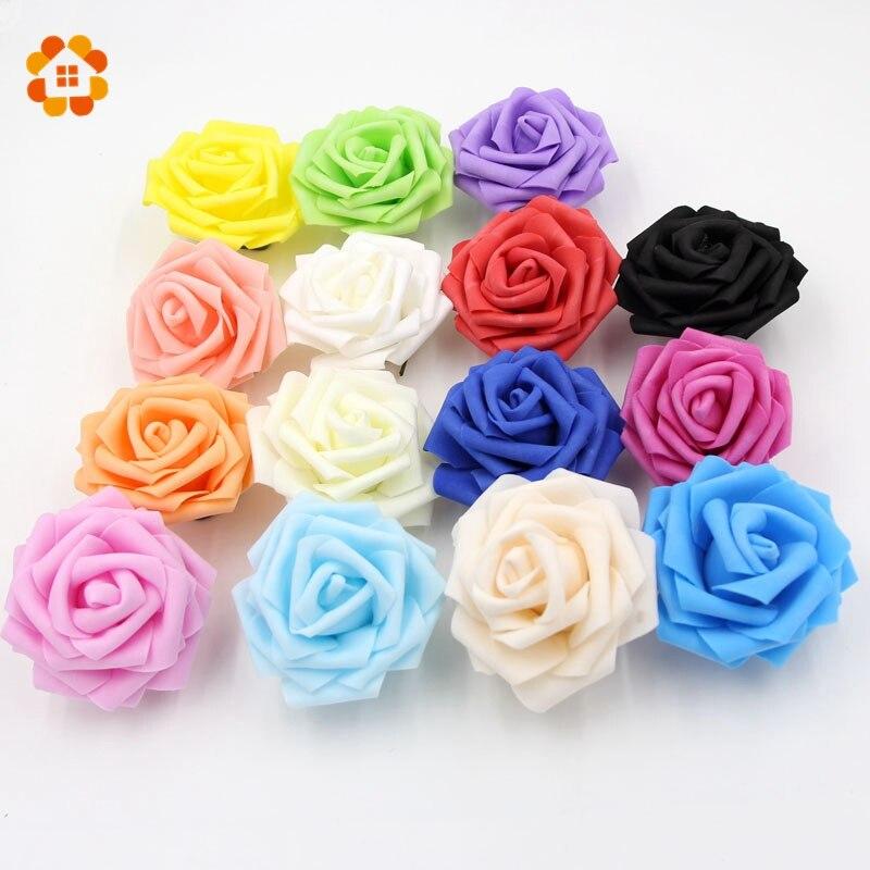20 unids Rosas De Espuma de Espuma De Rosas Artificiales Artificial Decoración D