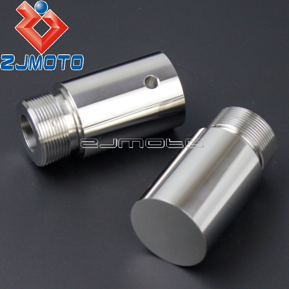"""Stainless Steel 39mm Fork Tube 4/"""" Extensions For Harley Dyna FXD Sportster XL"""