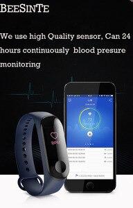 Image 5 - Pulsera inteligente Fitnesstracker pulsera inteligente con Monitor de ritmo cardíaco sangre presión colorida pantalla táctil mensaje instantáneo a