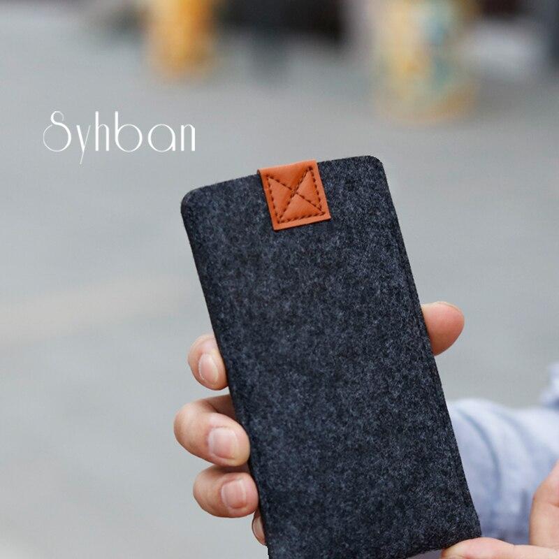 imágenes para Fieltro de lana Cartera bolso del teléfono Móvil Para Xiaomi mi5/5S caso o para xiaomi redmi nota 3 mi4/4C Caja del teléfono móvil