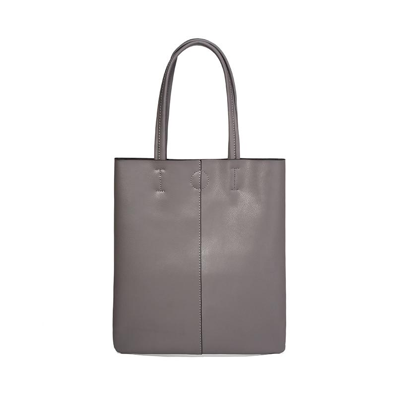 Sac à bandoulière multicolore en cuir minimaliste mme japon et corée du sud le nouveau sac fourre-tout en cuir multicolore souple mme pocket