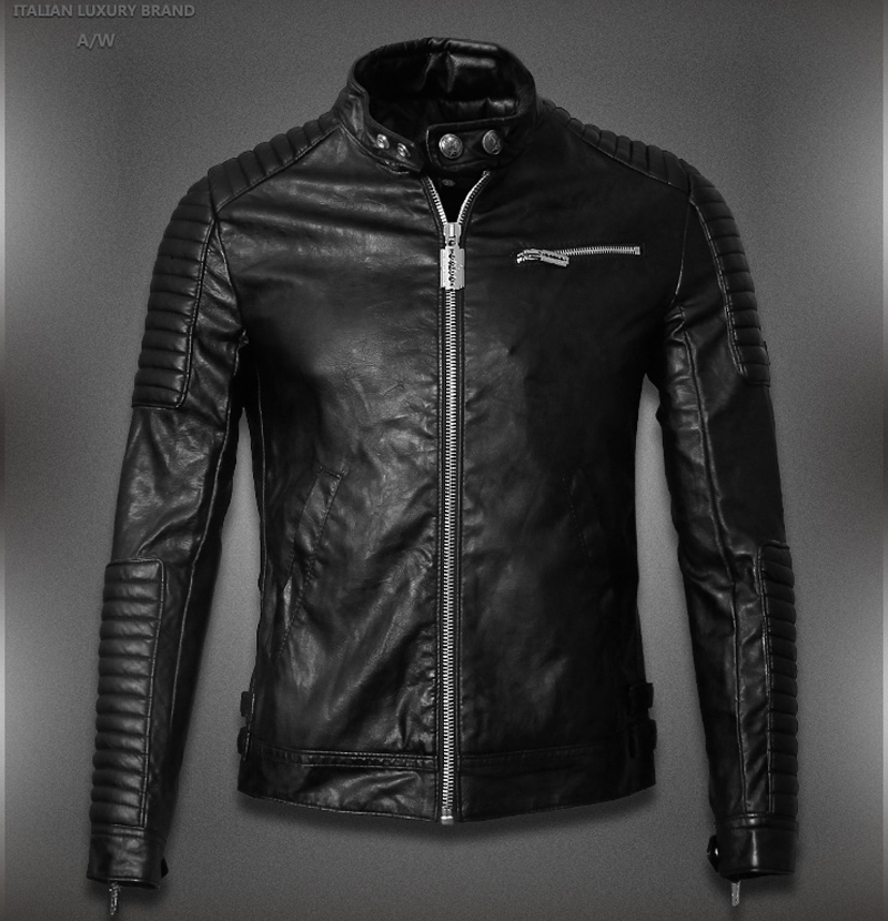 leather denim jacket Picture - More Detailed Picture about 2015 ...