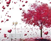 Valentines Day Transparent Heart tree light background High quality Computer print wedding backdrop