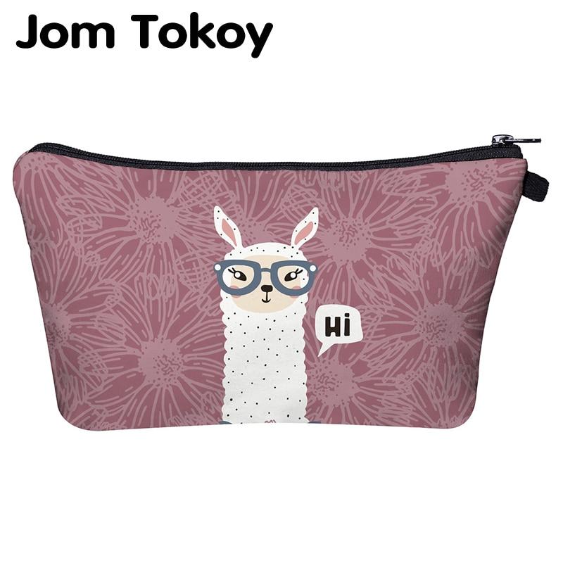 Jom Tokoy Cosmetic Organizer Bag Makeup Bag Printing Llama Cosmetic Bag Fashion Women Multifunction Beauty Bag Hzb960