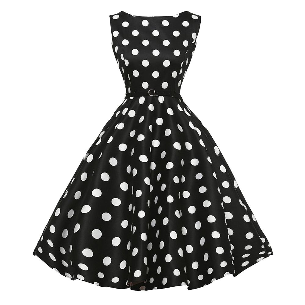 Women Summer Sleeveless Rockabilly Party Dresses 1950s Female Clothes  Printing Floral Vintage Elegant Dress 9021-in Dresses from Women s Clothing  ... cb0399265706