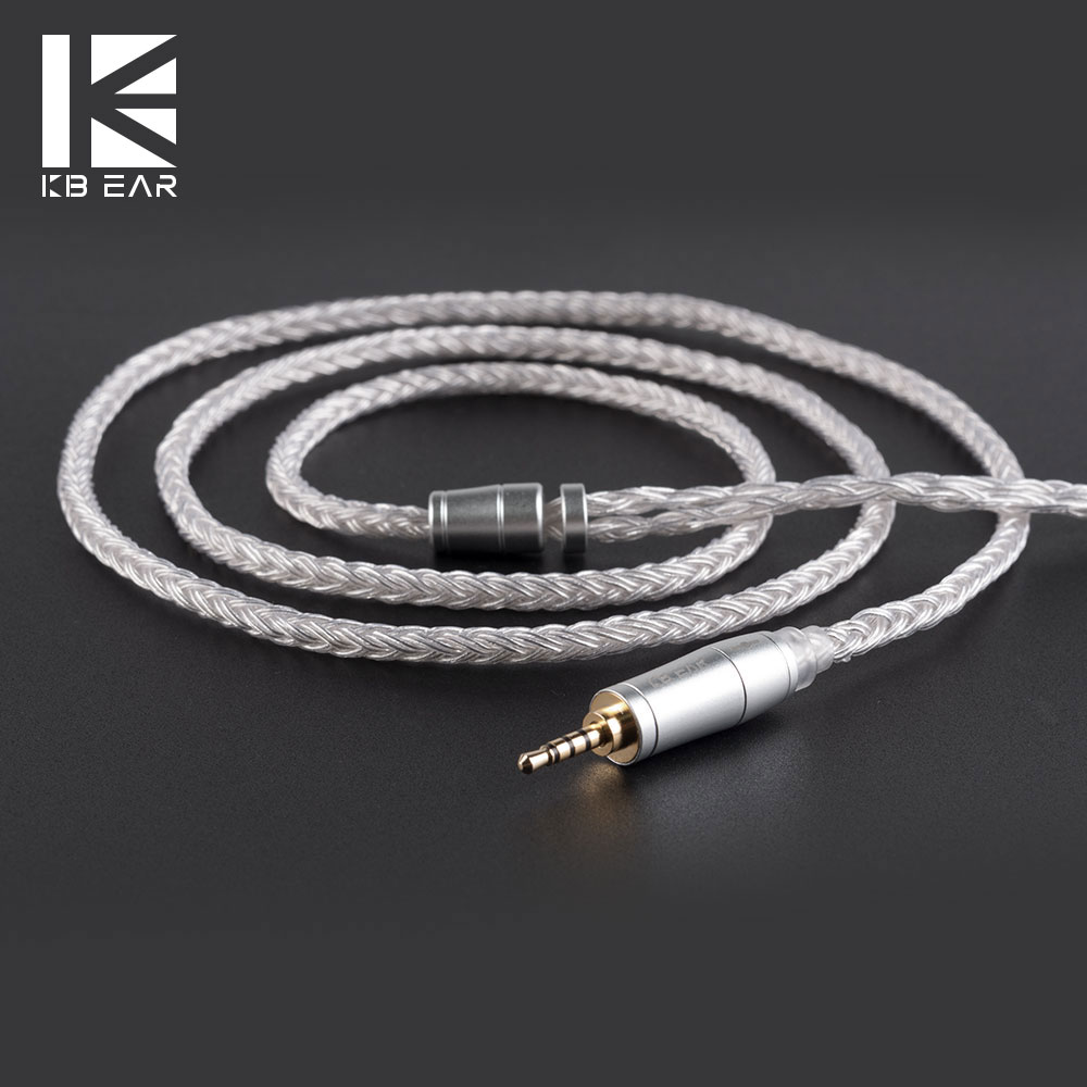 KBEAR 16 Core Upgraded Silver Plated Balanced Cable 2.5/3.5/4.4MM With MMCX/2pin/QDC Connector For KZ ZS10 ZSN PRO ZSX C12 BA5