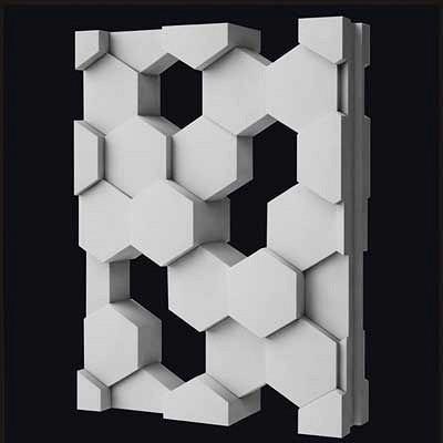 """2 шт. 3D Пластик формы для пластырь 3D декоративные настенные панели блока """"сетка"""" новые формы Дизайн 2017 год"""